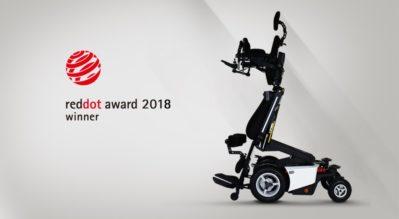 รถเข็นวีลแชร์ไฟฟ้าปรับยืน รุ่น EvO Altus ได้รับรางวัล Red Dot Winners สำหรับปี 2018 ในด้านการออกแบบผลิตภัณฑ์